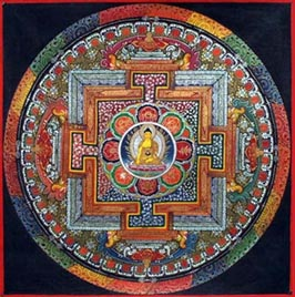 A mandala with Ratnapani