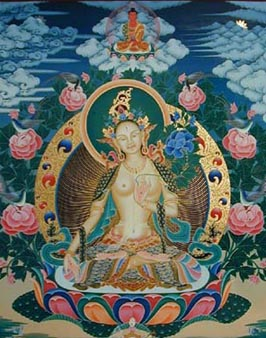 Avalokiteshvara with his thousand arms which  reach out to help all suffering beings